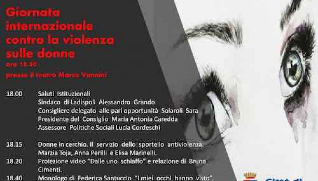 giornata violenza donne Ladispoli copia