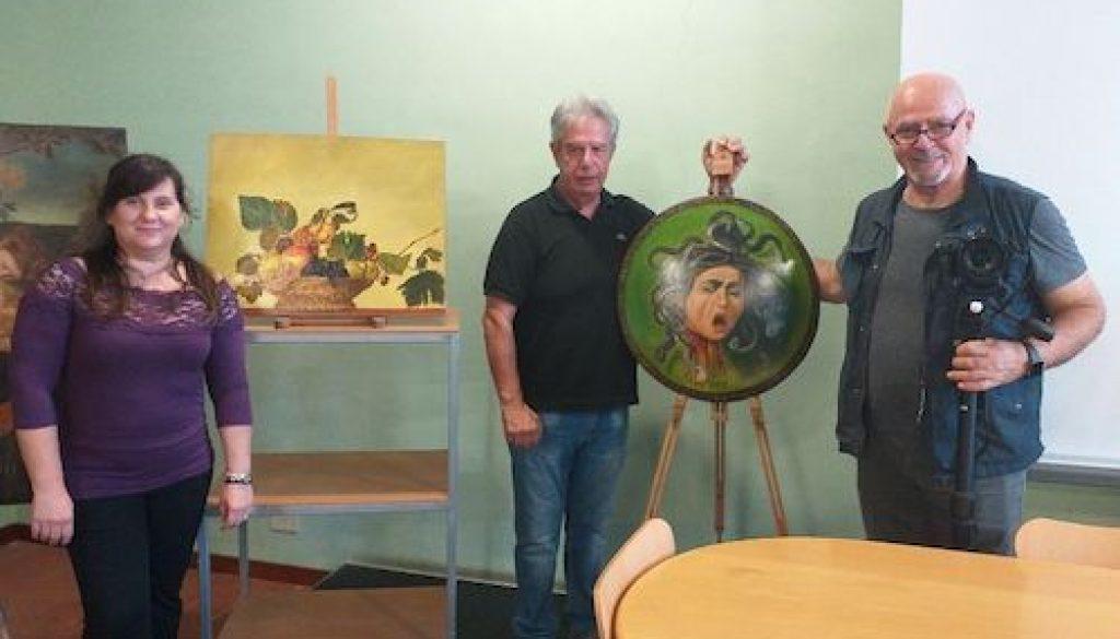pittori Felicia Caggianelli, Sergio Bonafaccia e Stefano Martini