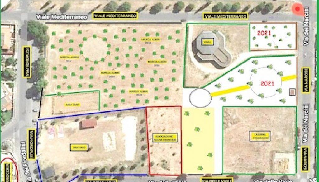 Marcia degli Alberi Ladispoli 1 - 2021 Viale Mediterraneo Mappa[1] copia