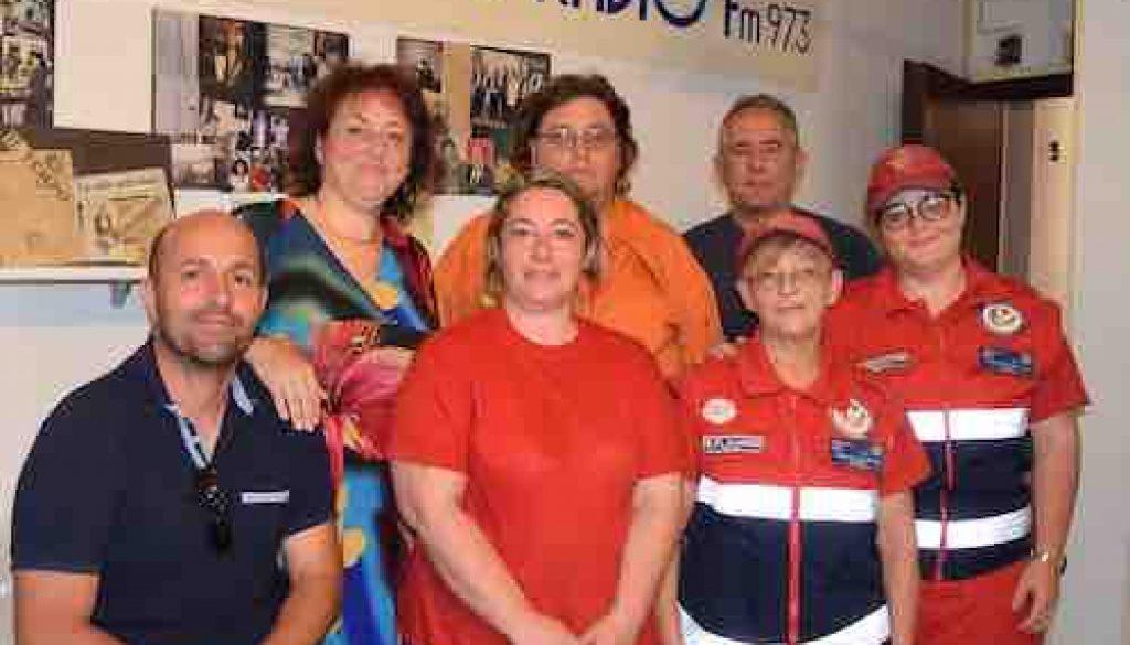 Volontari La Fenice con assessore Cordeschi e consigliere Fiorini