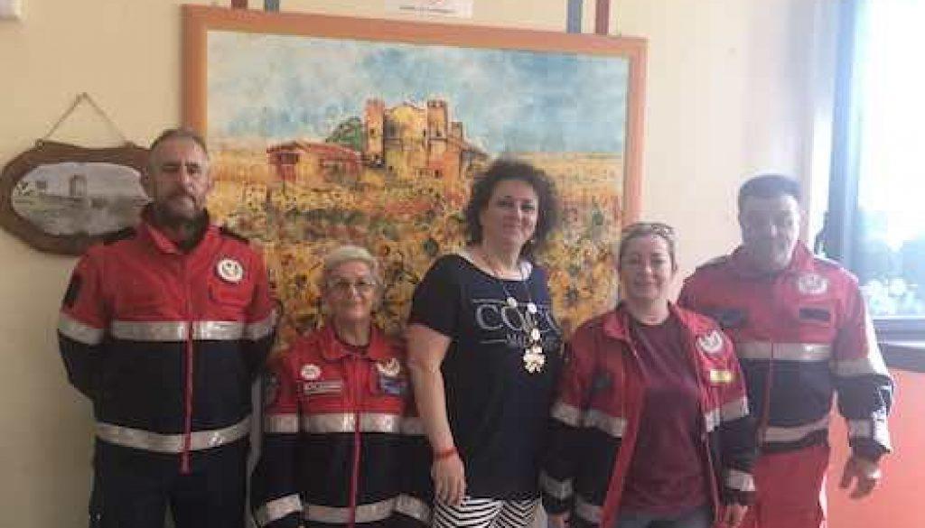 volontari con assessore Cordeschi